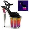 FLAMINGO-809SRS Black Patent/Neon Multi